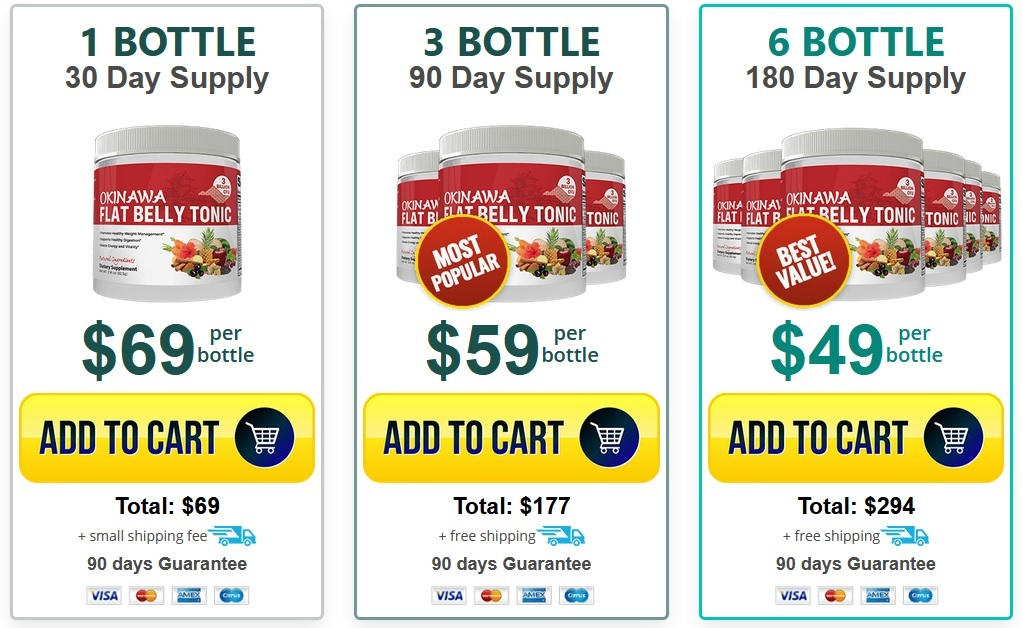 Okinawa Flat Belly Tonic - 6 Bottle Limited Time Offer